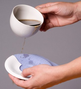 clumsy sets complete with ceramic tea cup and saucer