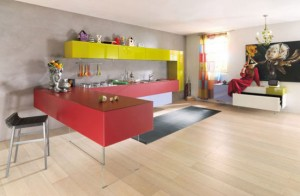 colorful kitchen cabinet ideas in colorful scheme by Lago