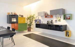 colorful kitchens cabinets ideas in colorful scheme by Lago
