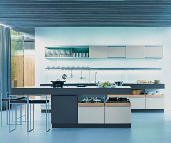 commercial kitchen design of restaurant or hotel by Poggenpohl German company