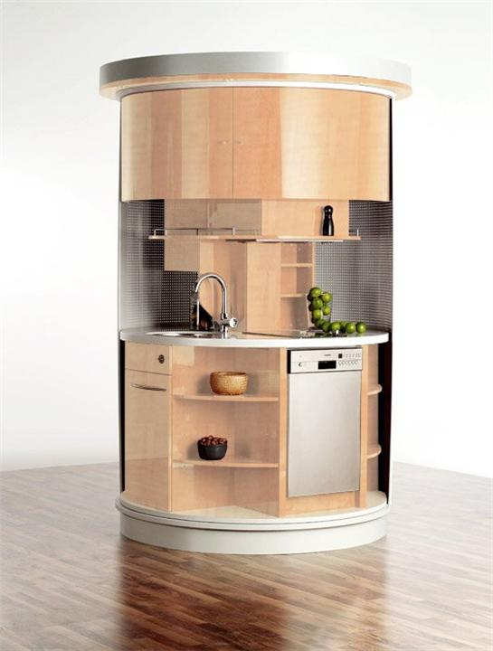 compact Small Circle Kitchen Concepts for small kitchen space