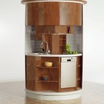 compact concepts for ideal small kitchen design dark brown