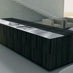 contemporary Kitchen Island with integrated Motorized cabinet from Binova