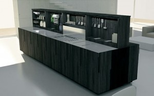 contemporary Kitchens Island with integrated Motorized cabinet from Binova