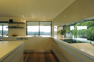 Contemporary kitchen design by wood color theme