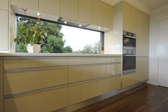 Contemporary kitchen design dominated by wood color