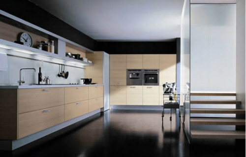 contemporary simple and clean kitchen style