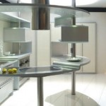 cool kitchen Snaidero USA of circular Acropolis kitchen using highly durable aluminum