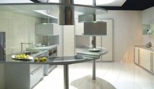 cool kitchen Snaidero USA of circular Acropolis kitchen using highly durable aluminum
