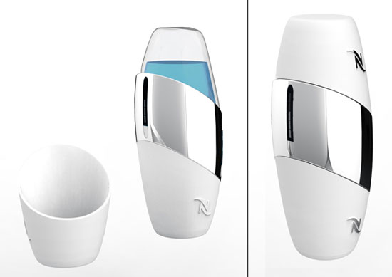 cool pocket coffee with synthesized ceramic cup and rechargeable battery