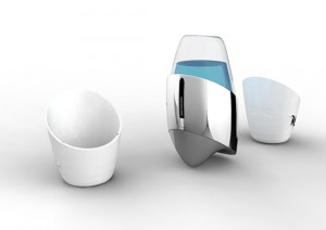 cools pocket coffee with synthesized ceramic cup and rechargeable battery