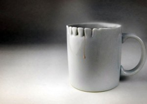 crazy cup design idea Teeth for tea drinking fill it with something nastier