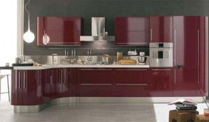 curved kitchen island with custom cabinetry give ergonomic kitchens designs