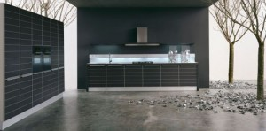 customizable Kitchen Cabinets with luminescent lamps by Moretuzzo