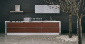 customizable Kitchens Cabinet with lumine cent lamps by Moretuzzo
