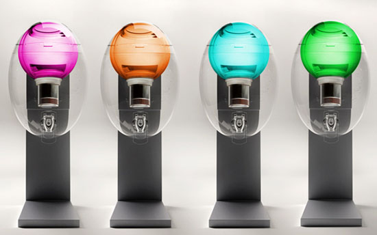 cute water dispenser like transparent egg AQUAOVO by Manuel Desrochers