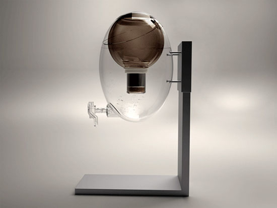 cute water dispenser like transparent eggs AQUAOVO by Manuel Desrochers