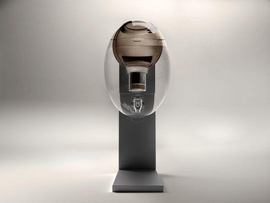 cute waters dispenser like transparent egg AQUAOVO by Manuel Desrochers