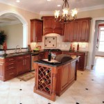 display ideas for wine bottles in traditional style kitchen