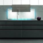 distinctive rectangular ventilation hood with LED Illumination kitchen lighting Toncelli