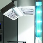 distinctive rectangular ventilation hood with LED Illumination kitchens lighting Toncelli