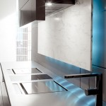 distinctive rectangular ventilation hood with LED Illumination kitchens lighting from Toncelli