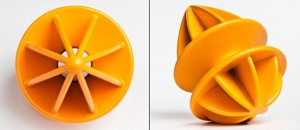 double squeeze with unique funnel designs used to citrus fruits