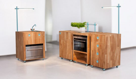 eco friendly kitchen appliances for small kitchen by Swedish designer