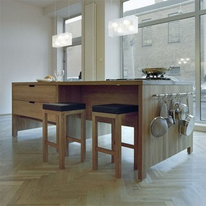 elegant classic design with tenon-ed joints semi-circular cut-out handles