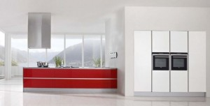 enlarge the space visually and make it lighter One popular type of modern kitchen design