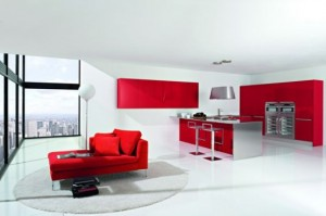 enlarge the space visually and make it lighter One popular type of modern kitchen designs