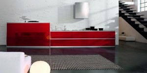 enlarge the space visually and make lighter One popular type of modern kitchen design