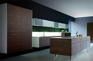 exclusive kitchen design back splash area above the sink and worktop is illuminated