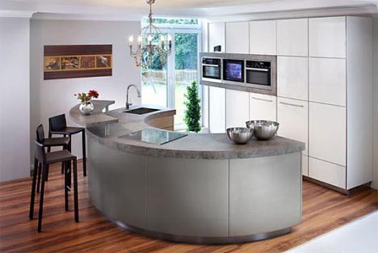 extremes kitchen design combine lines materials color and warmth
