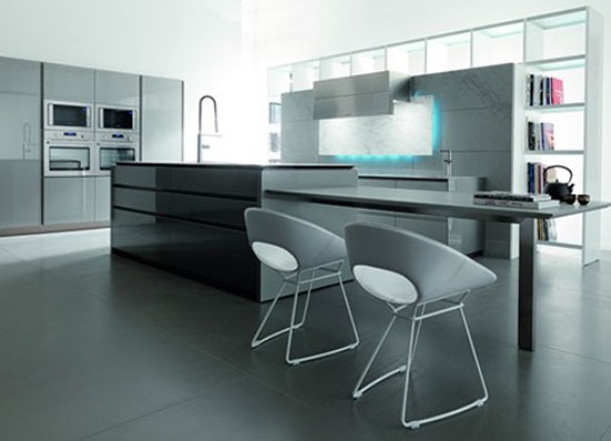 extremes kitchen design combine lines materials colors and warmth