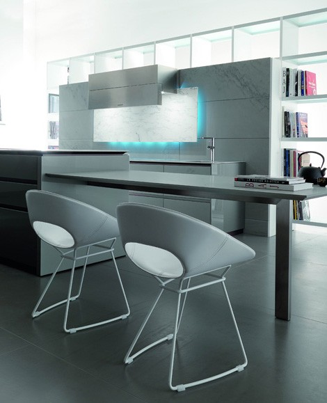 eye-catching elements kitchen with LED Illumination from Toncelli creates a mood available in a range of finish