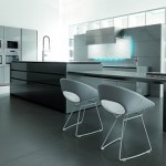 eye catching elements kitchen with LED Illumination from Toncelli creates a mood available in a range of finishes