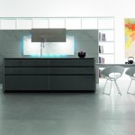eye-catching elements kitchen with LED Illumination from Toncelli creates a mood available in a range of finishes
