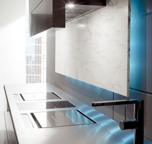eye-catching elements kitchen with LED Illumination from Toncelli creates a mood available in range of finishes