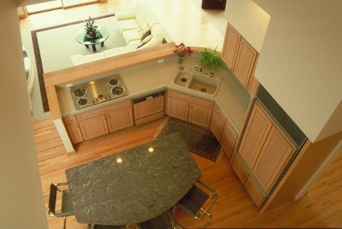 feel larger with open concept of modern kitchen design
