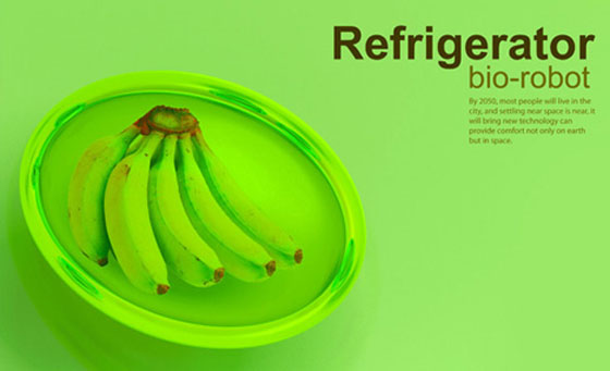 future green refrigerators keep food fresh with nanorobotic bio gel system