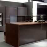 future kitchen remote controlled kitchen island design in aluminum and walnut