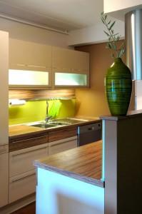 futuristic kitchen lighting for small condominium kitchen