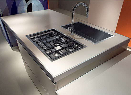 galley kitchen designs ideas combination of modular elements HPL laminate