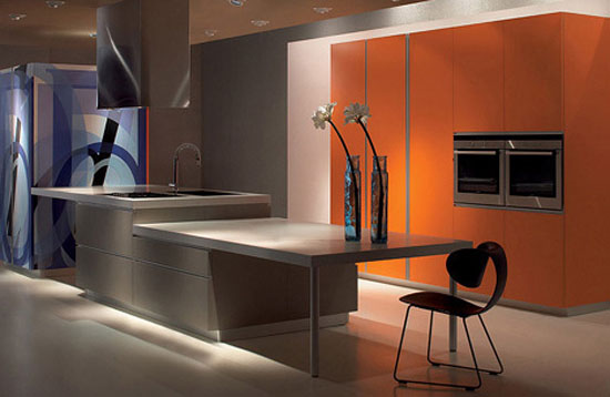 galley kitchens design ideas combination of modular elements HPL laminate