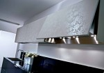 glas and wood kitchen soften minimal themes and lines by Pedini