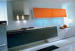 glas wood kitchen softens minimal themes and lines by Pedini