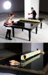 glass for dining table set with chairs designed in PING-PONG size