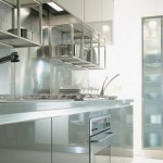 glass kitchen cabinet and stainless stell from Ernestomeda
