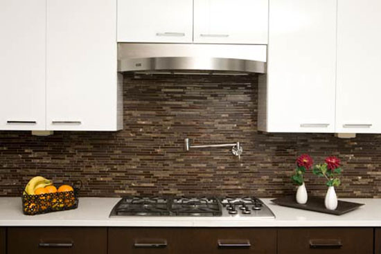 glass tile kitchen in wide range of colors textures shapes combinations and designs